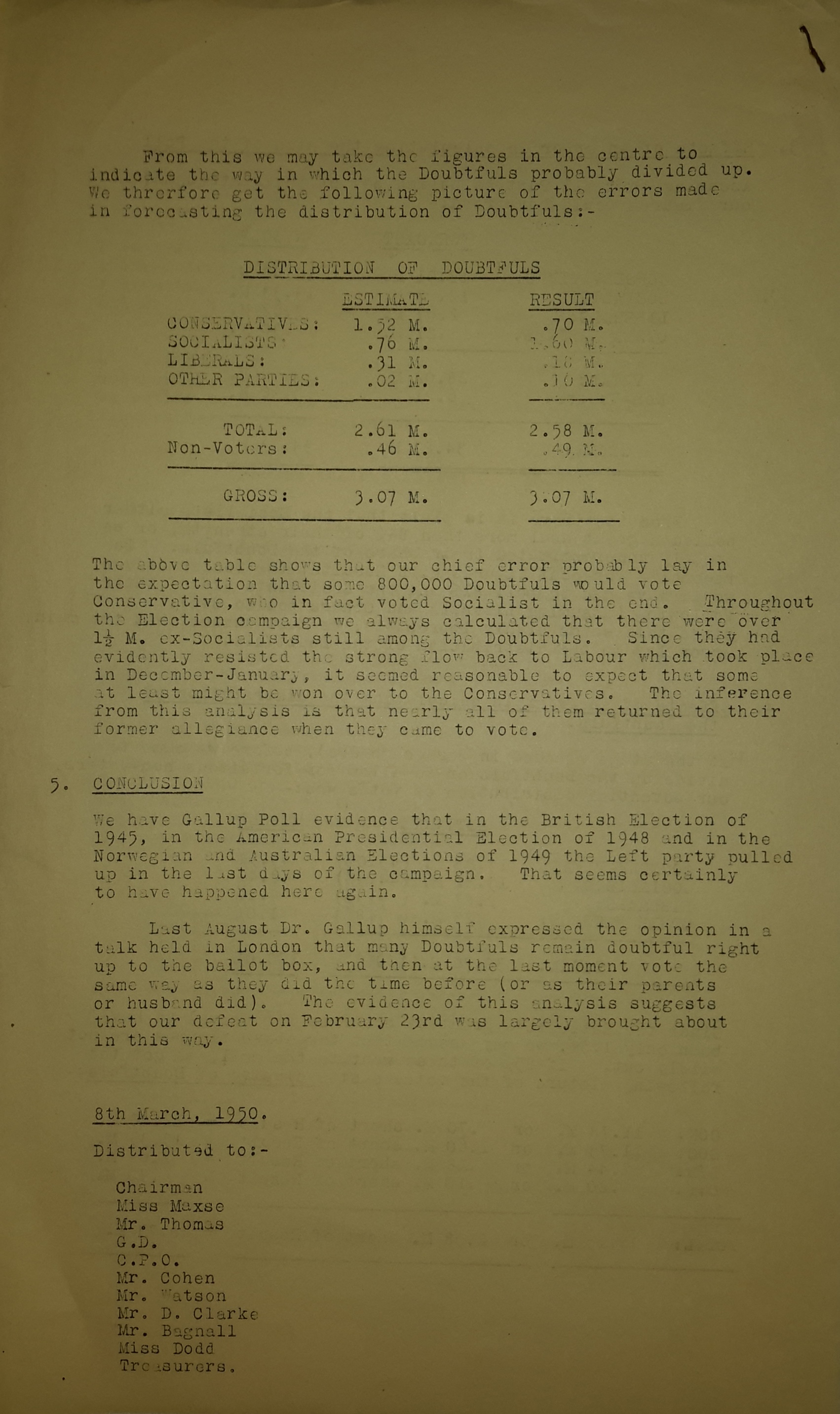 Opinion Polls and the General Election – a case study from 1950 ...