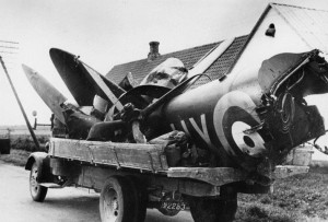 crashed Blenheim