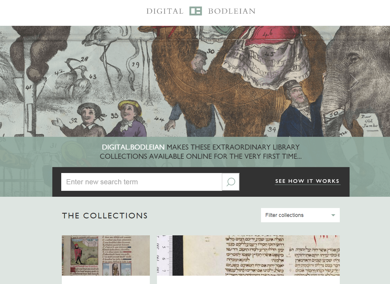 Digital.Bodleian landing page