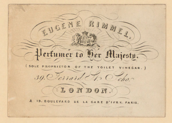 Eugene Rimmel trade card