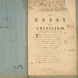 popes essay on criticism Alexander pope an essay on criticism written in the year 1709 [the title, _an  essay on criticism_ hardly indicates all that is included in the poem it would.