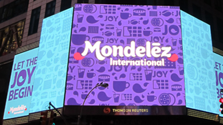 Photo of Mondelēz Australia advertising.