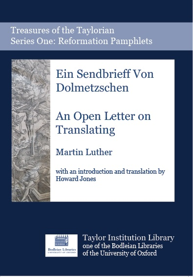 Cover of Taylor publication of Sendbrief