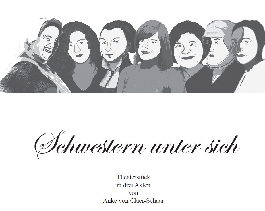 """Title page of the play """"Schwestern unter sich"""""""