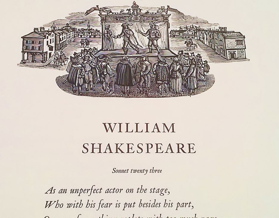 Shakespeare's Sonnets 19 to 36, printed in 2016 – The Conveyor