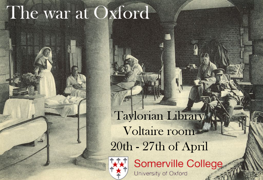 Flyer for The War at Oxford Exhibition