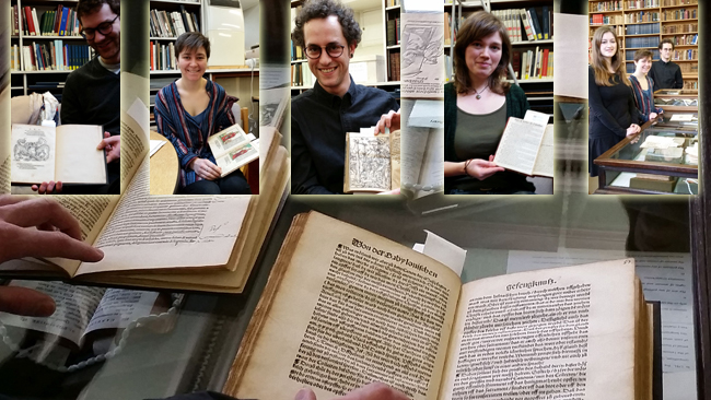 Students working with the Reformation Pamphlets in the Taylor Institution Library